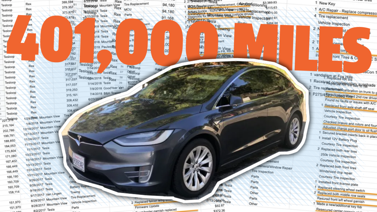 This Tesla Model X Has Driven Over 400 000 Miles Here Are All The Parts That Had To Be Replaced In 2020 Tesla Model X Tesla Model Tesla
