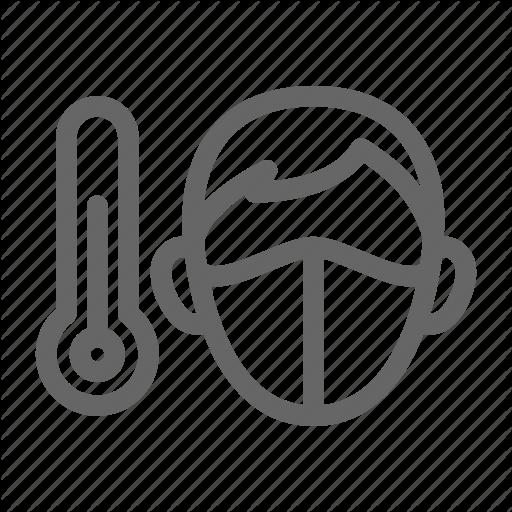 Face Scan Temperature Thermometer Icon Download On Iconfinder Icon Thermometer Face