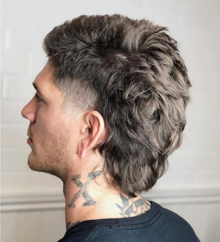 Modern Mullet With A Temple Fade Menshair Menshair2018 Menshair2019 Menshairstyles Menshairtrends Menshairsty In 2020 Mullet Hairstyle Mullet Haircut Hair Styles
