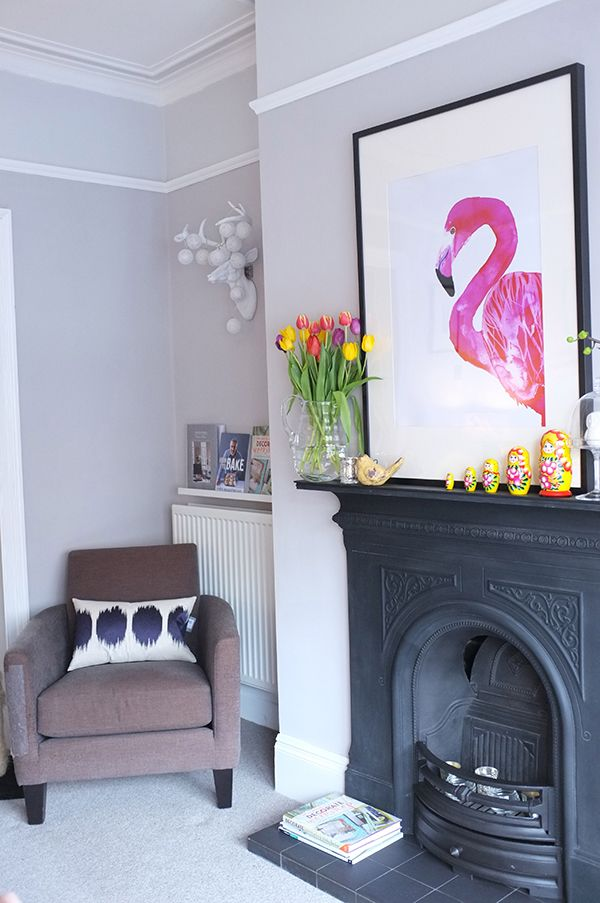 Decor Updates - use of two tones of grey Polished Pebble (Dulux) and Eglise grey (Crown)