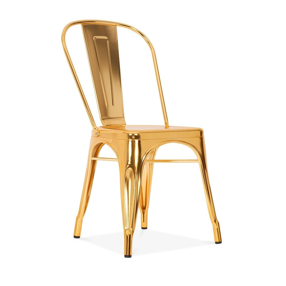 Xavier Pauchard Tolix Style Metal Side Chair Gold Avec Images