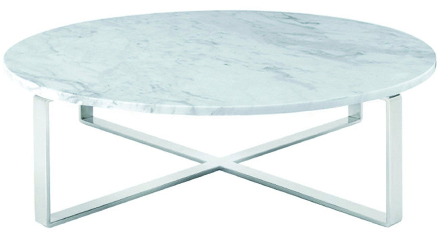 Amazon Com 38 In Round Coffee Table In White Kitchen Dining
