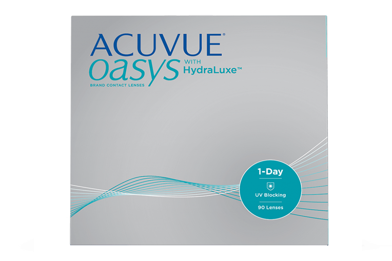 Acuvue Oasys 1Day 90 Pack with HydraLuxe Contact Lenses