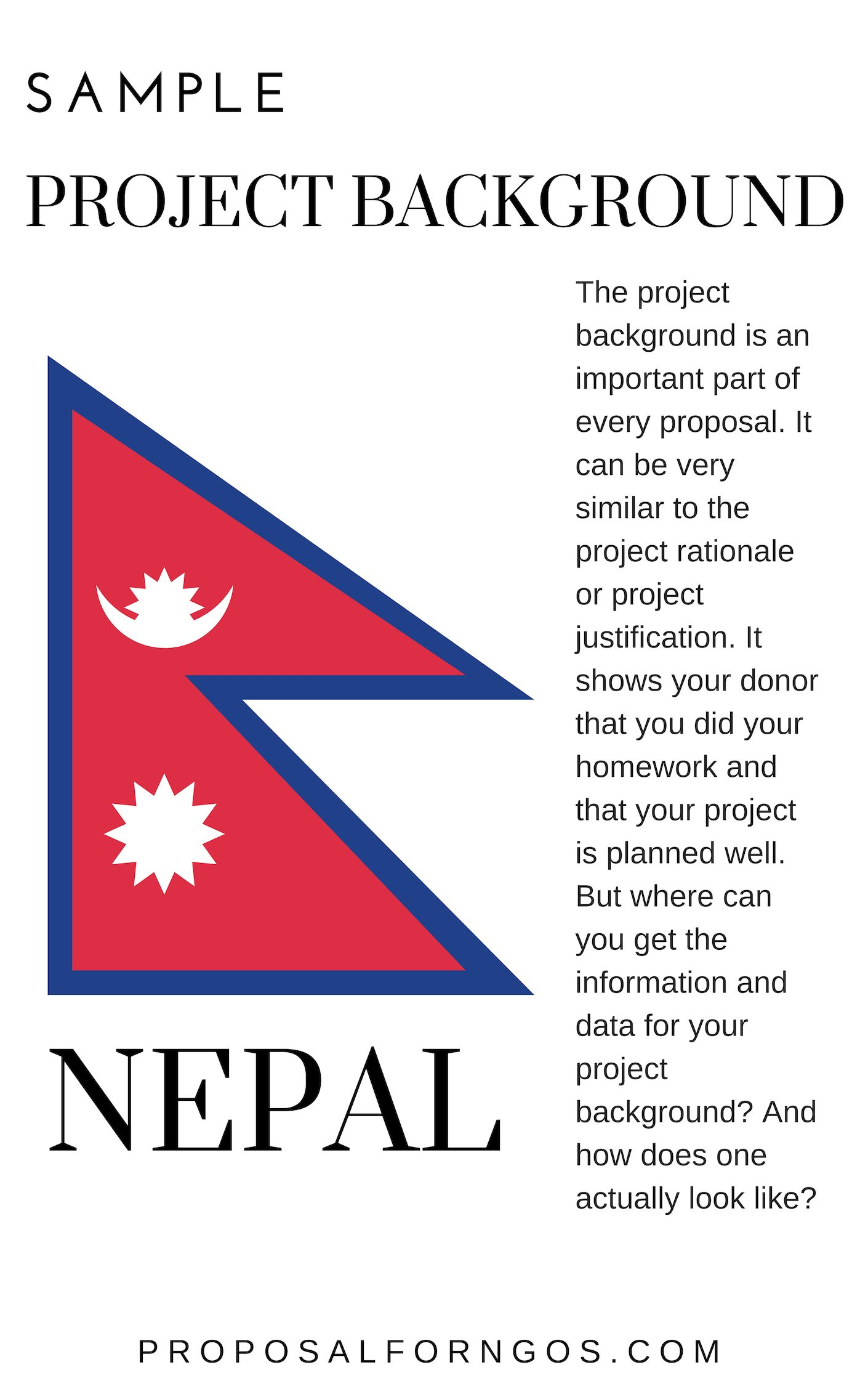 Sample Project Background Nepal Proposal Writing Grant Writing