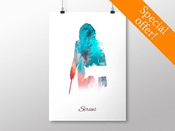 PRINTABLE Sirius Black Poster - Harry Potter Print, Harry Potter Poster
