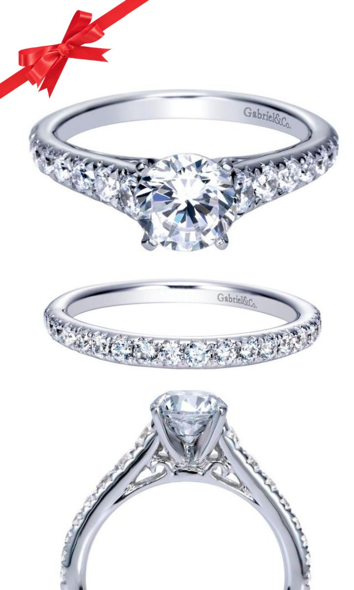 One Of The Top Ing Diamond Studded Engagement Ring Styles From Gabriel Line About 100