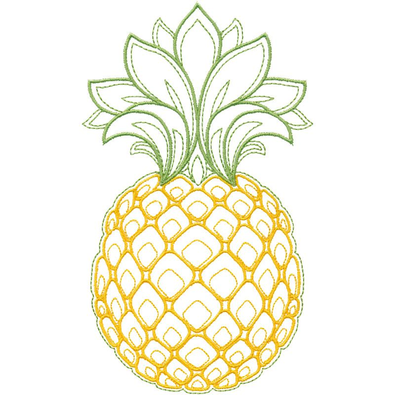 """10"""" Sequin Pineapple Pina Colada Drink Embroidered Iron On Fashion Patch DIY"""