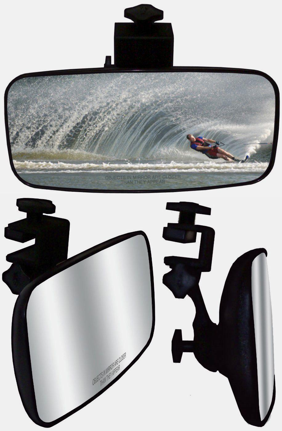 Boat Rear View Mirror Marine Nautical Safety Water Ski Boat Mirror Dashboard New