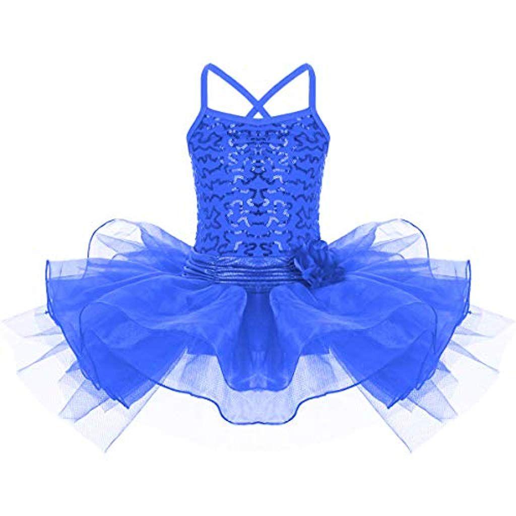 ragazze Tutu Ballet Danza Costume Con Lustrini skirt.party NUOVO Bambini