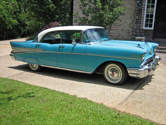 1957 Chevrolet Bel Air My Grandma Had A Silvery Blue One And Her