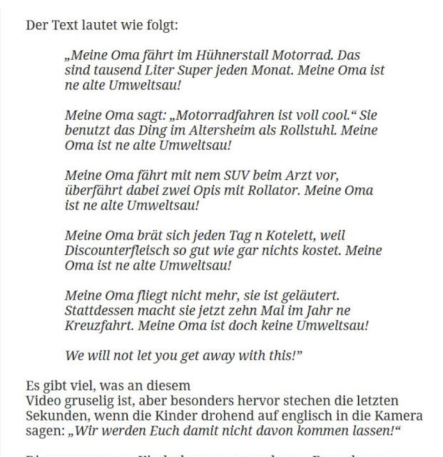 Oma Ist Ne Alte Umweltsau Text