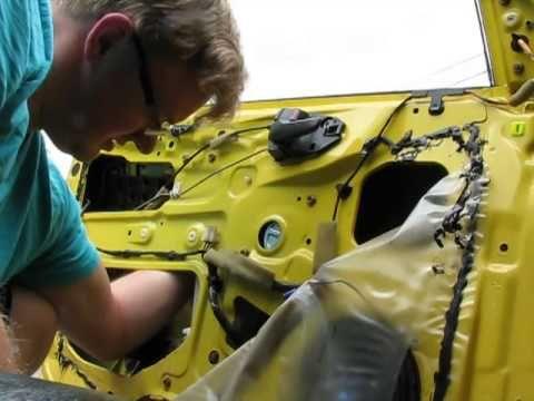 How to install window regulator & motor 2002 Mitsubishi Lancer OZ Rally