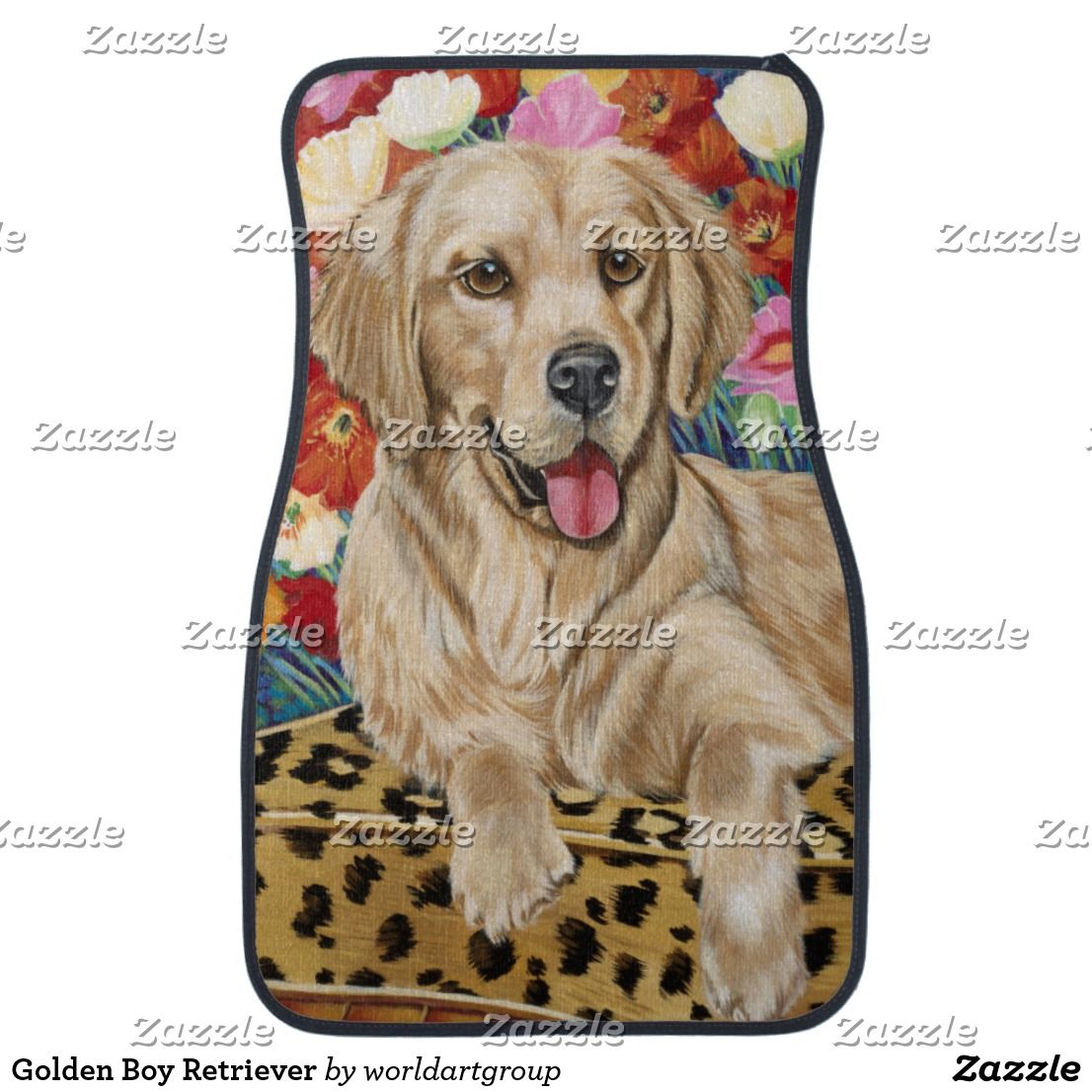 Golden Retriever Dog Puppy Wall Clock  I Love My Golden Canine Dogs New 10/""