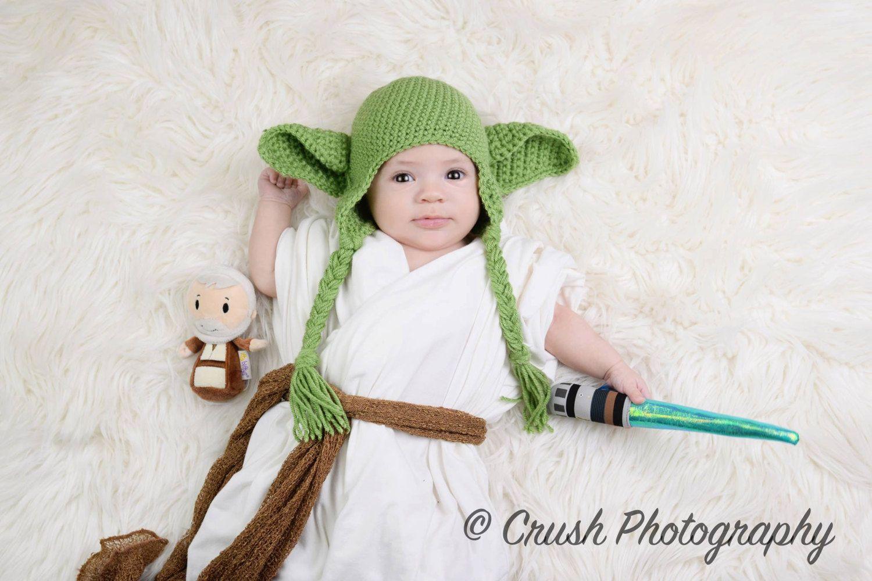 READY TO SHIP-Newborn Boys Hat Baby Yoda Hat 0-3m- 3-6m Green ...