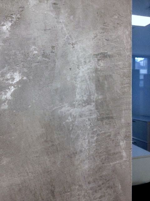 Concrete Feature Wall Created For High End Office Space NYC