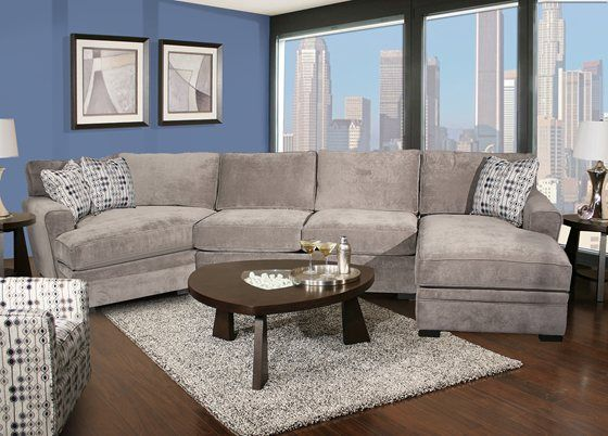 detailed look 50202 82887 Sectional with cuddle corner. | Living Room ideas in 2019 ...