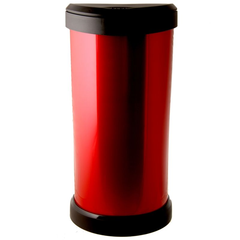 Curver 40l Deco Bin Red Red Kitchen Trash Cans Red