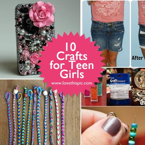 ten crafts for teen girls craft ideas crafts crafts for teens crafts for kids. Black Bedroom Furniture Sets. Home Design Ideas