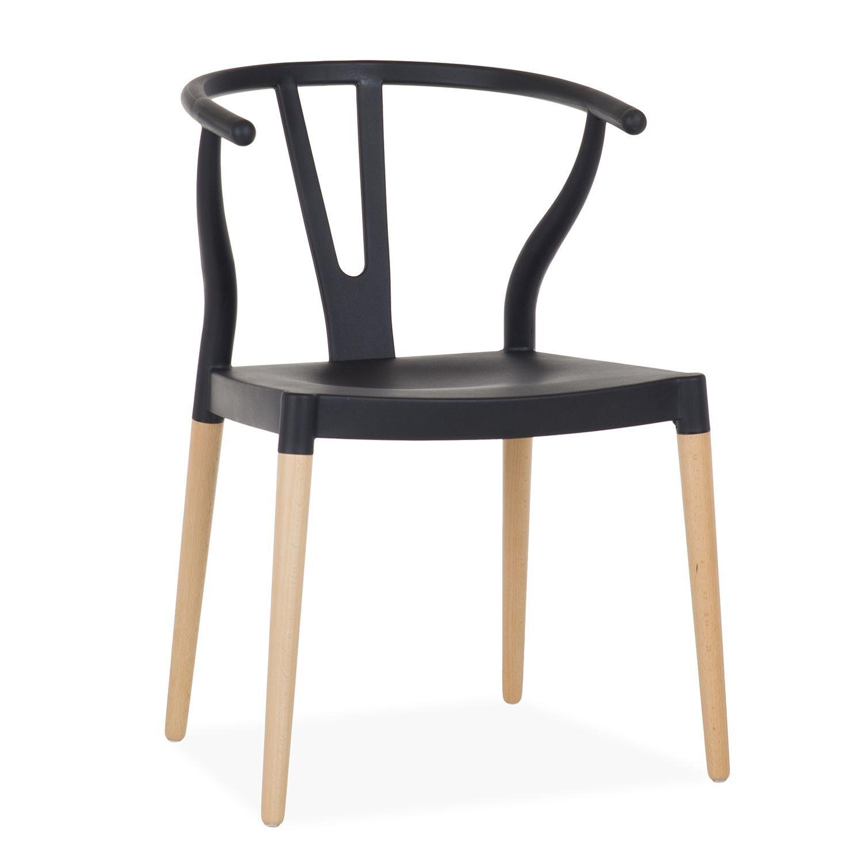 Sedia FER -Polipropilene- (Sedie di plastica con gambe in legno ...