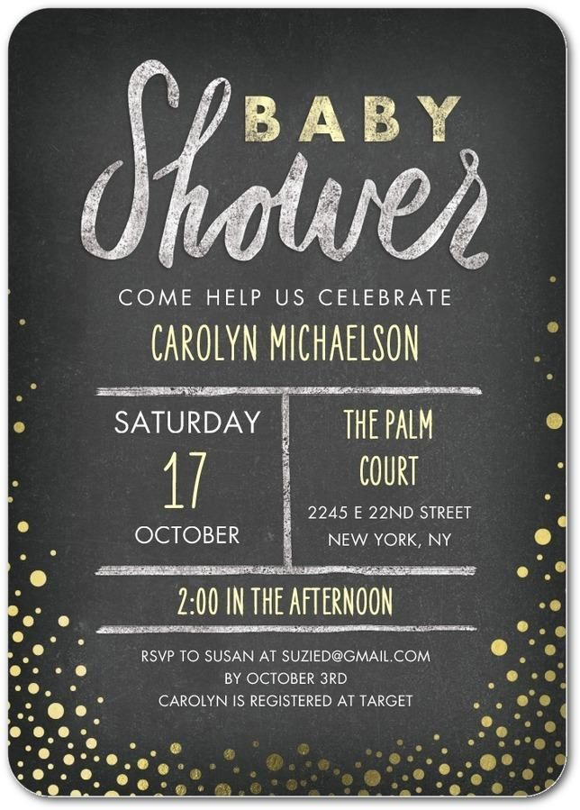 Share your shower details with everyone. Find hundreds of baby ...