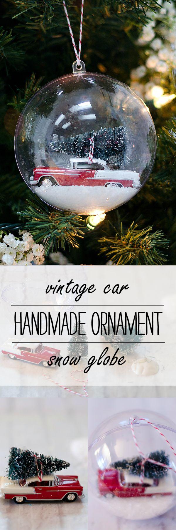 Snow Globe Ornament Christmas ornaments, Christmas