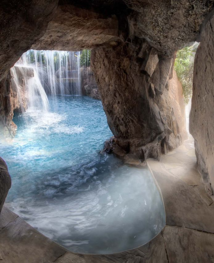 john guild photograhpy joe dipaulo stone mason water caves grotto custom grotto poollagoon poolcool - Cool Pools With Caves