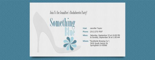 Something Blue Invitation - not opposed to an evite... | Bridal ...