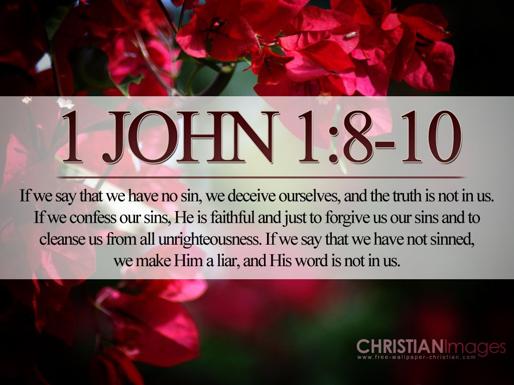 In 1 John 1 8 10 If We Say That We Have No Sin We Deceive