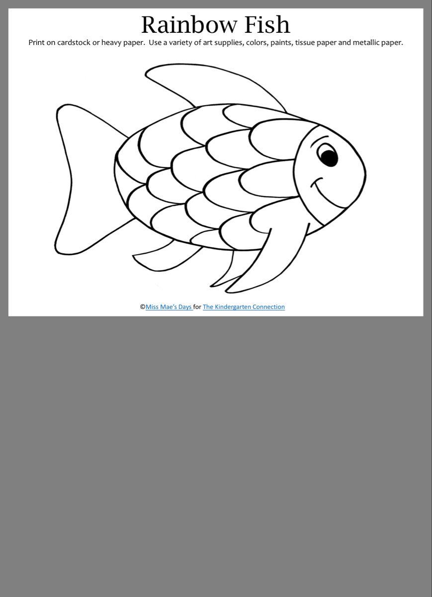 Pin By J On Easy Craft Kids Rainbow Fish Fish Print Rainbow