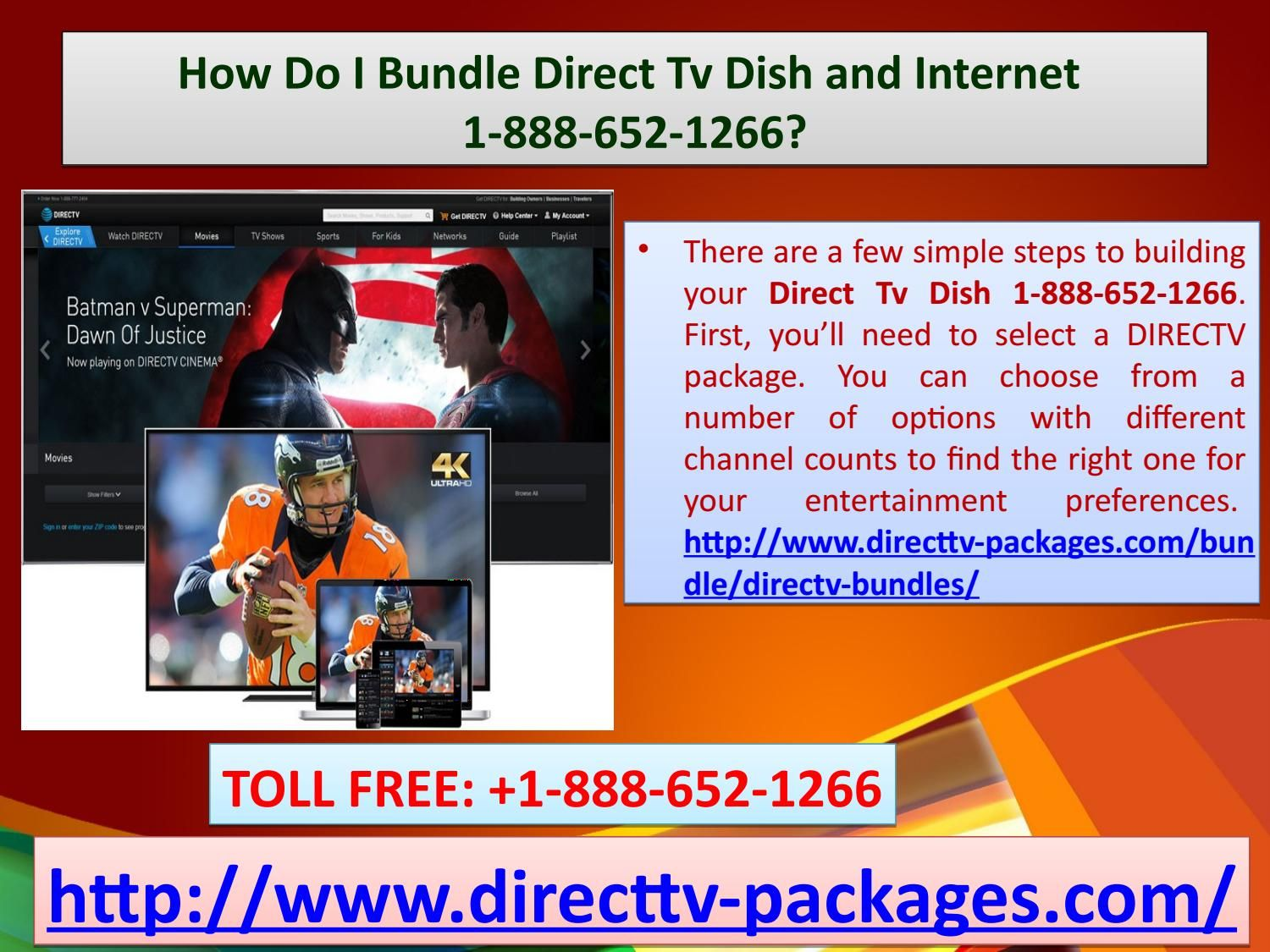 How Do I Bundle Direct Tv Dish and 18886521266