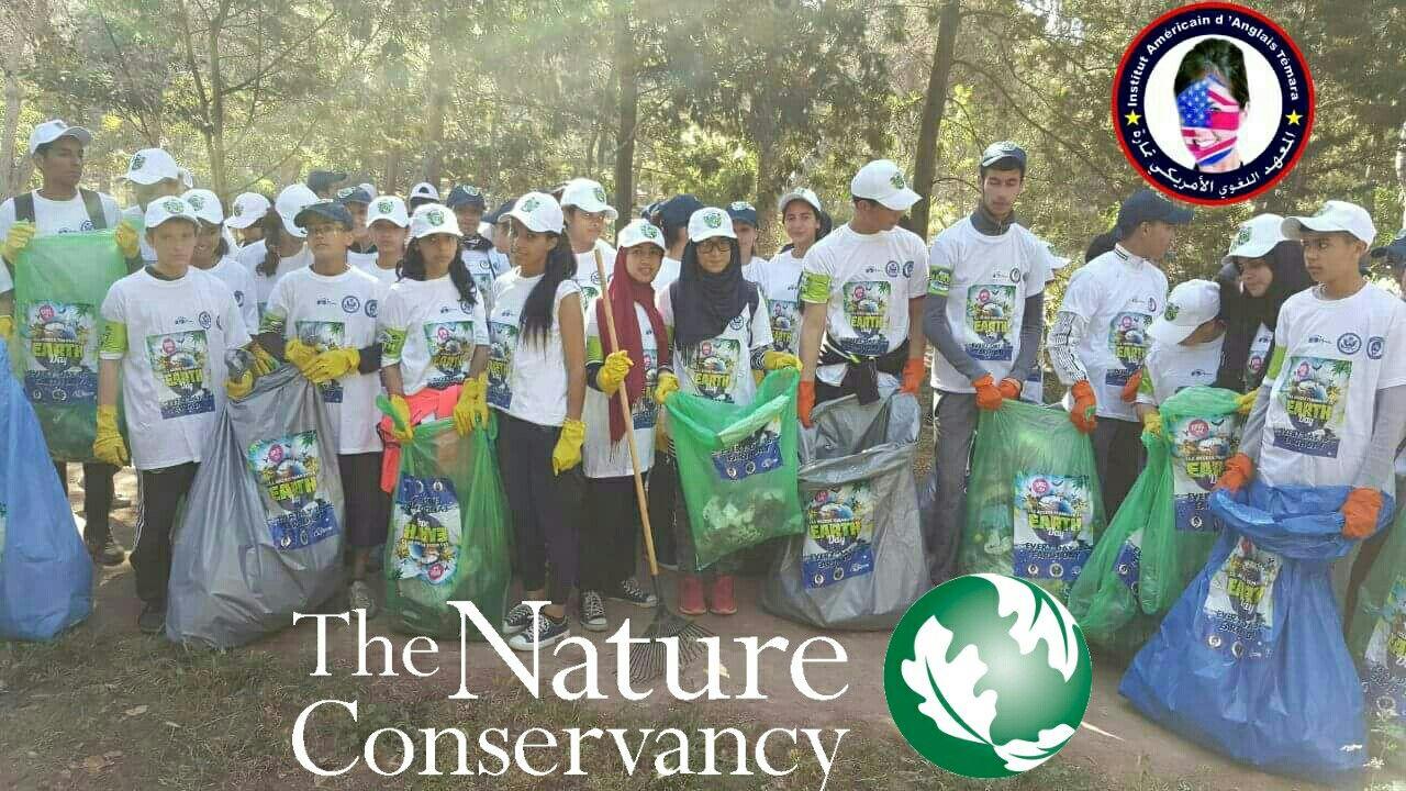 مبادرة بيئية خاصة لطلاب المعهد اللغوي الامريكي تمارة احتفالا بيوم الارض نحن كلنا شركاء It S Our Duty To Baseball Cards Nature Conservation Baseball