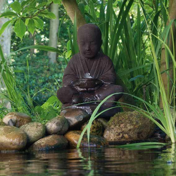 Fontaine de jardin Semarang Ubbink Bouddha avec pompe et bassin ...