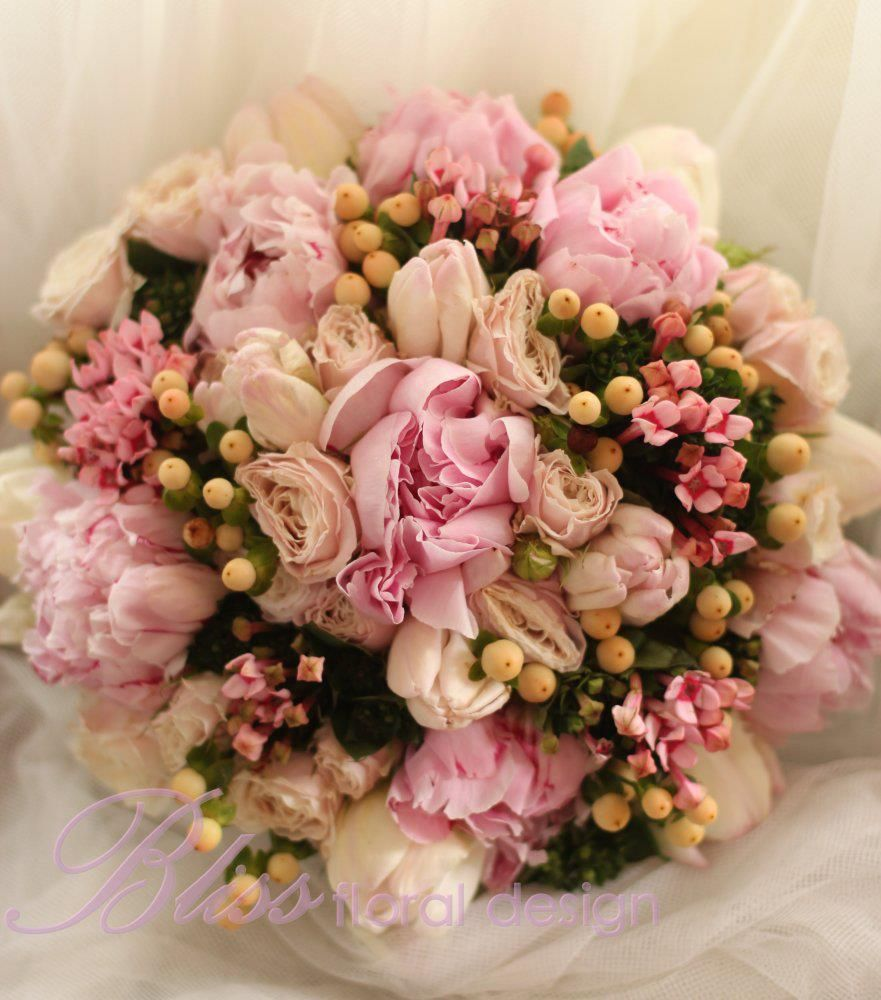 southern blue celebrations pink wedding bouquets