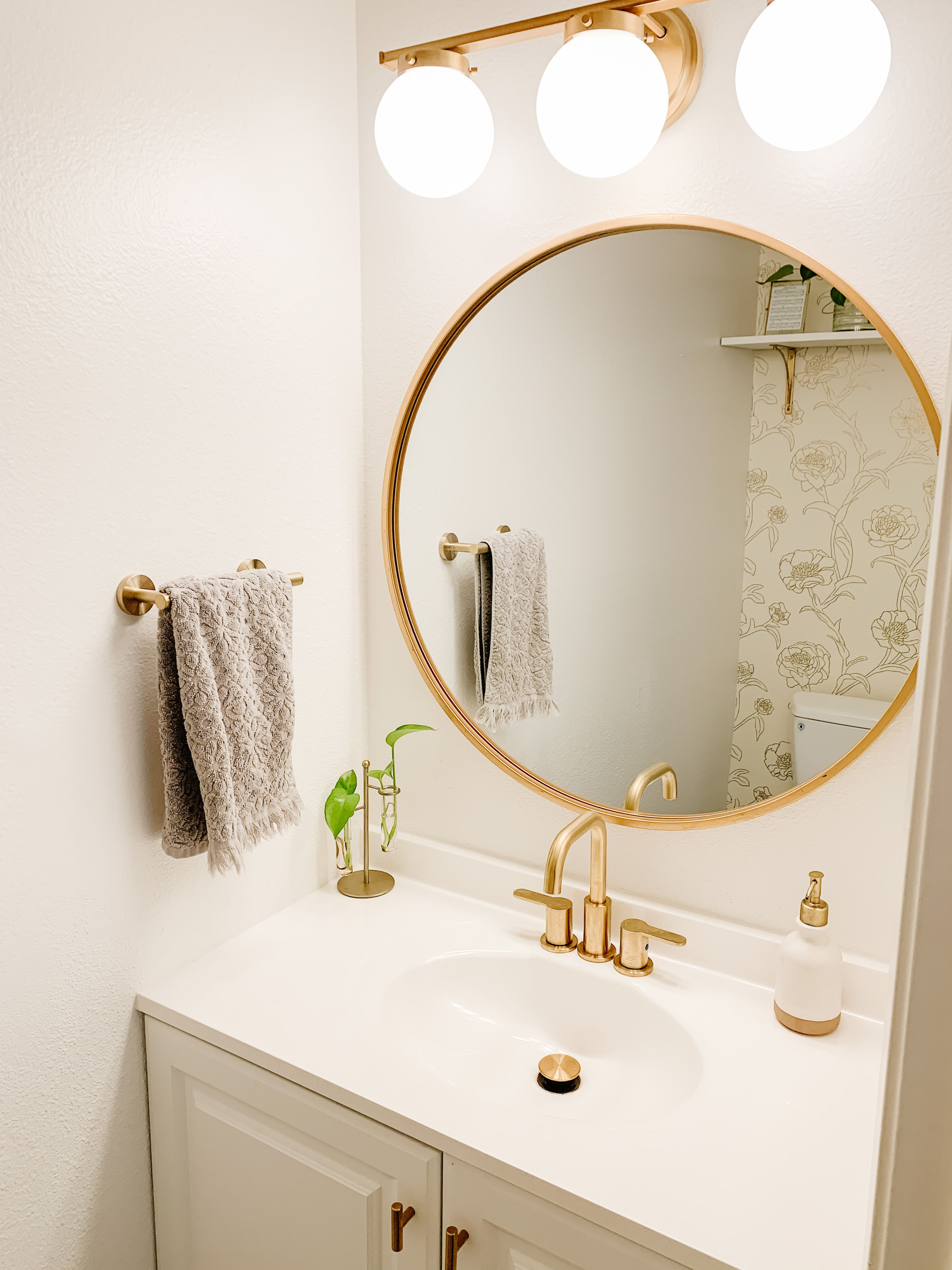 Guest Bathroom Gold Bathroom Decor Small Bathroom Decor Guest Bathroom Bathroom decor ideas gold