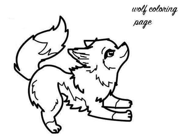 Baby Wolf Pictures To Color Http Coloringspace Com Baby Wolf