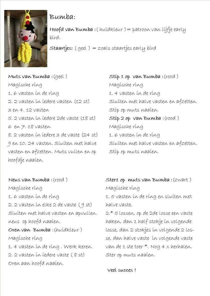 Afbeeldingsresultaat Voor Haakpatroon Bumba Dieren Haken Breien