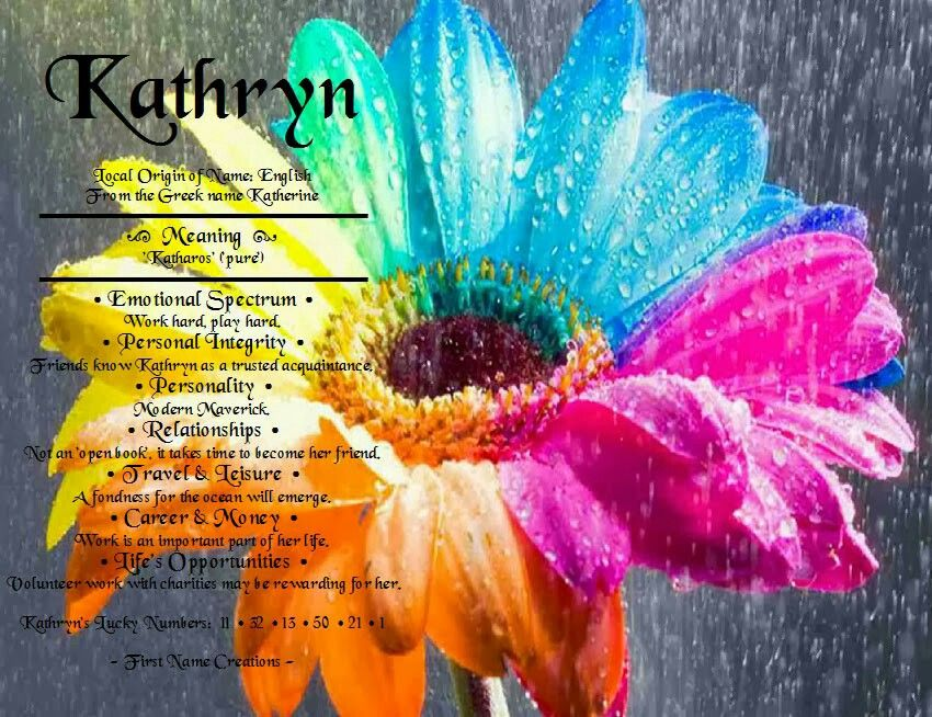 Kathryn name meaning  Quite accurate    So me   Names with