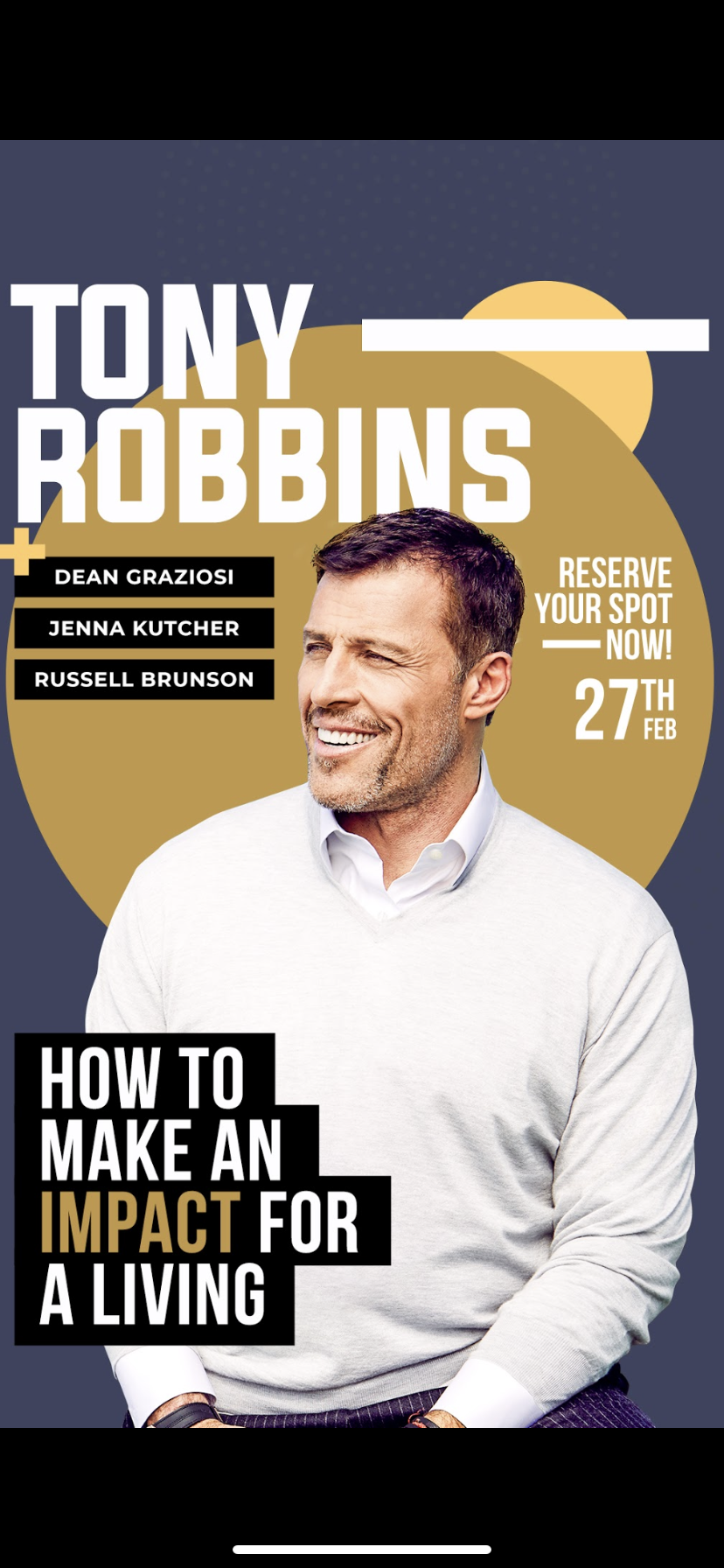 How to make IMPACT for a living in 2020 Tony robbins
