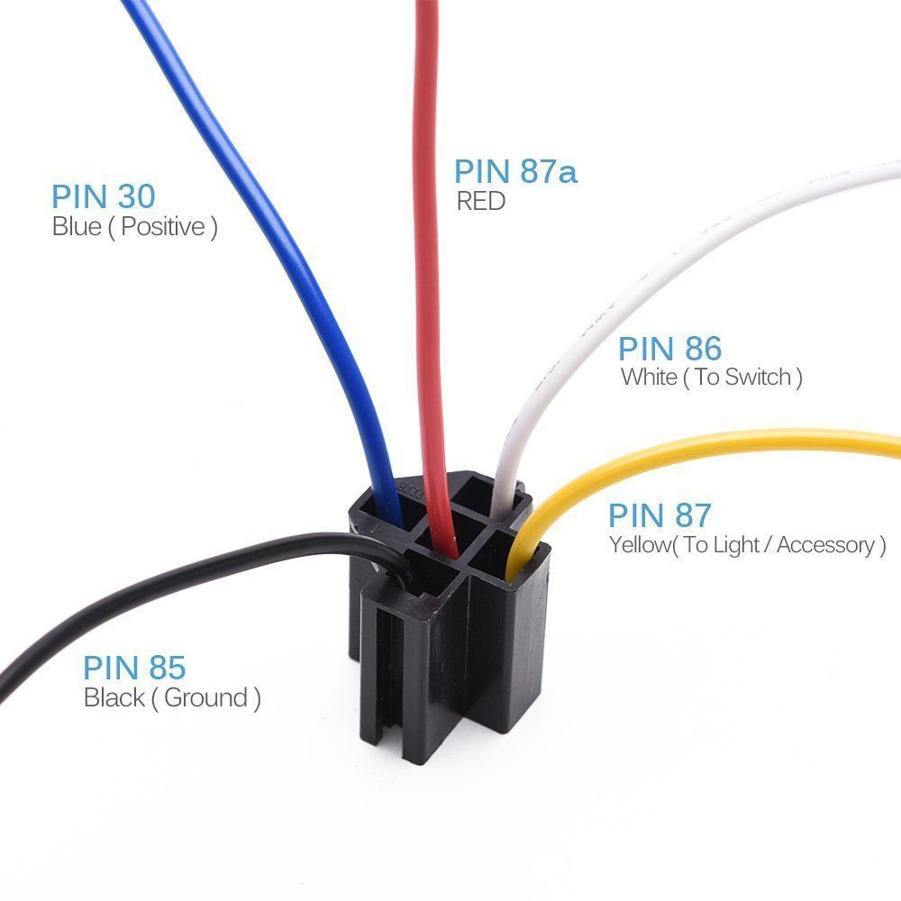 medium resolution of 5pcs dc 12v car spdt automotive relay 5 pin 5 wires w harness socket 30 40 amp g 743828481513 ebay