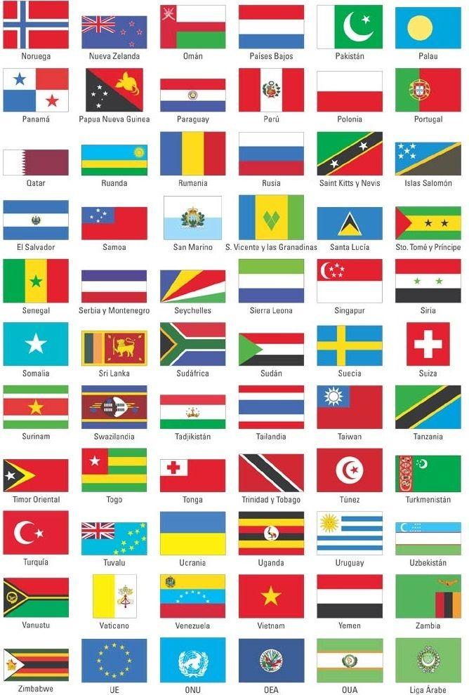 paises europeos con sus banderas