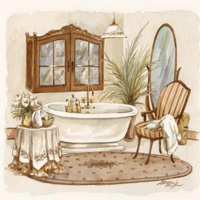Antique bath i jeriane van dijk laminas para ba os - Laminas para banos ...