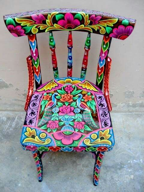 funky furniture ideas. hand painted chairs funky furniture ideas g