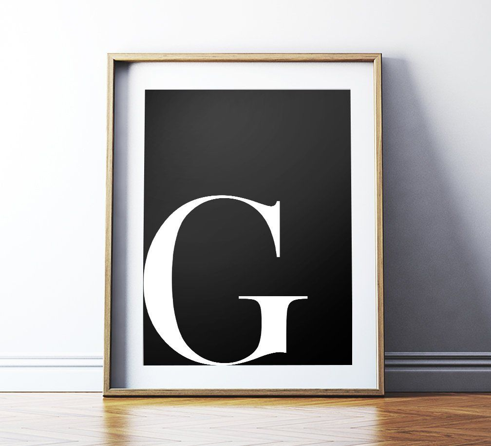 G Printable Art Typography Poster
