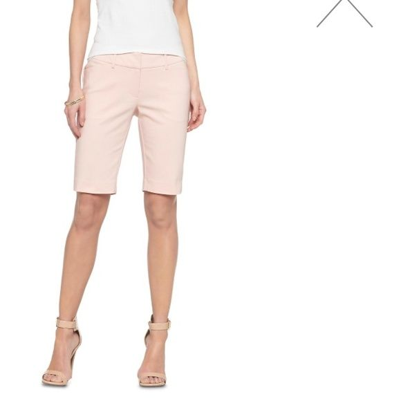 Long Shorts. Light Peach. Perfect condition! Great belted or do without. Can wear wedges, heels or sandals. Perfect for the office. Mossimo Supply Co. Shorts