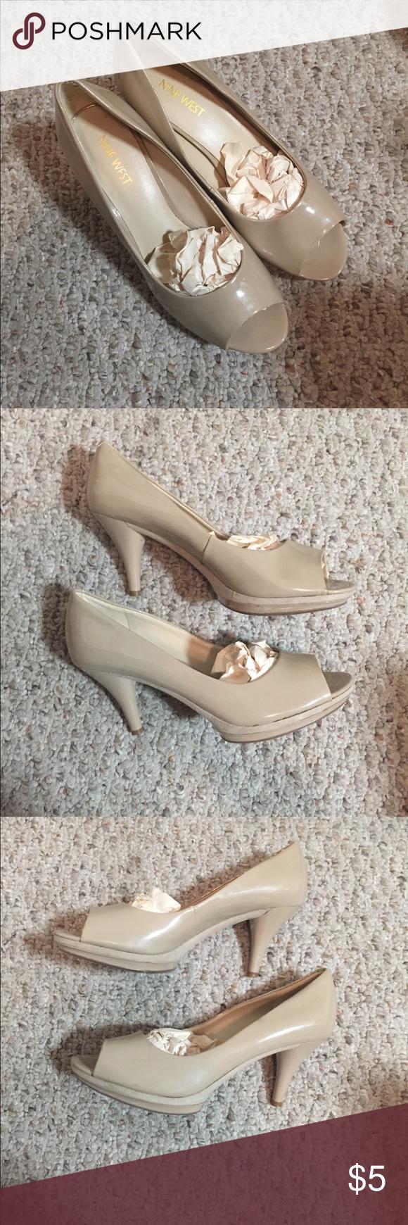 mejor servicio 51ef6 dc518 Nine West Open toe nude heels staple for every closet! very ...