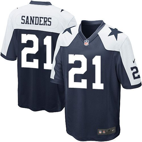 9487a5b90 Nike Limited Deion Sanders Navy Blue Youth Jersey - Dallas Cowboys  21 NFL  Throwback Alternate
