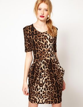 vero moda leopard kjole