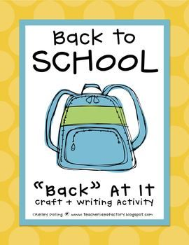 Back to School Backpack Craft + Write