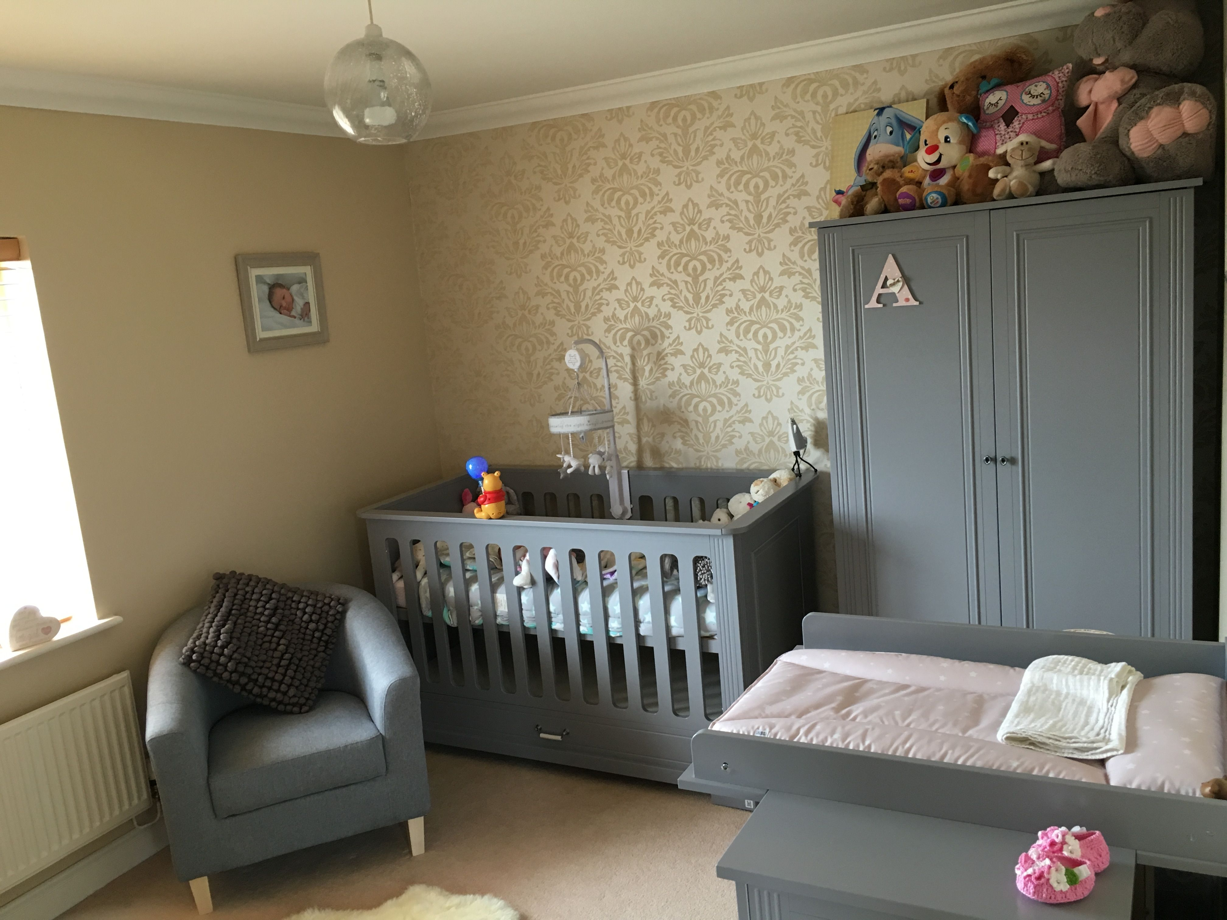 Daisy Grey Nursery furniture Great match with fabric tube chair