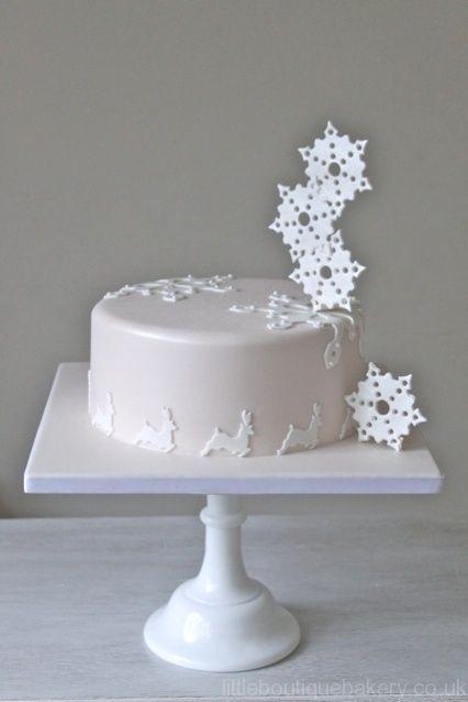 gâteau rennes & flocons